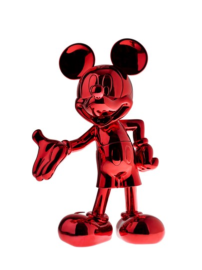 Mickey Welcome Chromed Red by Leblon Delienne - Limited Edition Sculpture